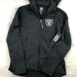 Oakland Raiders Zip Up Sweatshirt Embroidered NFL